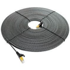 Tera Grand - 49.9' RJ-45 CAT 7 Patch Cable - Black/White