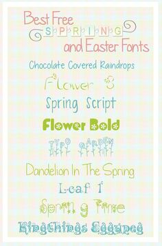 best easter and spring fonts - make sure to check terms of use!