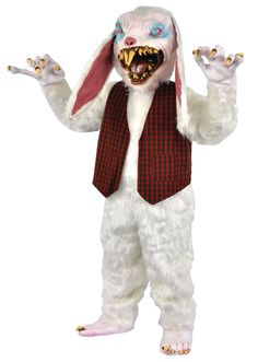 UHC Peter Rottentail Bunny Outfit Horror Movie Theme Halloween Costume, OS Halloween costumes For Women Scary Halloween Costumes, Adult Halloween, Halloween Party, Halloween Ideas, Halloween Makeup, Spooky Halloween, Best Group Costumes, Easter Bunny Costume, Bloodshot Eyes