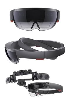 Microsoft HoloLens augmented reality headset hardware allow for a virtual reality. More info http://buyvr.tech