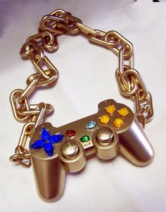 DIY Gold Controller Necklace for March Madness Teen Gaming Tournament Prize