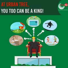 Feel like a king when you own an Urban Tree home. With facilities that you must have only dreamt about, We're sure you'll experience the ultimate royal treatment. :) Experience ultimate bliss with facilities like spa, swimming pool, gym, yoga space, mini theatres and much more.