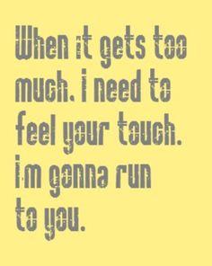 Bryan Adams - Run to You - song lyrics, music lyrics, song quotes