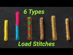 6Types Load Or Embossed Stitches   Aari Works   Maggam Works - YouTube