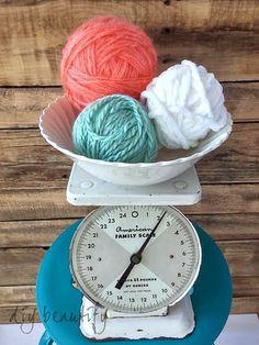 Display yarn balls in a pretty bowl DIY beautify