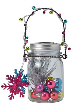 A great use for extra ornaments, and so easy, anyone can make this one!