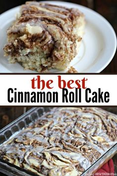 Easy Coffee Cake Recipe - The Best Cinnamon Roll Cake Recipe - Eating on a DimeYou must try this new twist on a traditional coffee cake. You are going to love this easy cinnamon roll cake made from scratch. This is a simple homemade dessert recipe Cakes To Make, How To Make Cake, Dessert Simple, Simple Dessert Recipes, Cake Recipes From Scratch, Easy Cake Recipes, Cinnamon Roll Cake Recipe From Scratch, Simple Coffee Cake Recipe, Dessert From Scratch