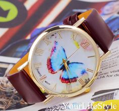 Original Butterfly Leather Watch,Women Watches, from yourlifestyle by DaWanda.com