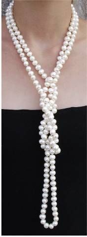 A Premier Designs Jewelry / Rope Pearl Necklace - 21 ways to wear a pearl necklace.