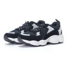 b973670475f Дамски модерни комбинирани маратонки в черно 2 - FASHIONMIX.BG Jordans  Sneakers, Air Jordans