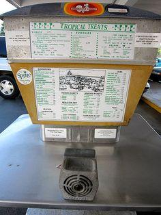 vintage drive-in restaurant menu boards | Tropical Treat Hanover PA Drive In Restaurant Menu