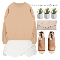 """""""oversized"""" by amilla-top ❤ liked on Polyvore featuring H&M, women's clothing, women, female, woman, misses and juniors"""