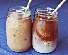 Homemade Iced Coffee - Mix 2 1/2 quarts water, 5 ounces ground coffee, 2 tablespoons nutmeg, ginger, and/or cinnamon. Let sit overnight. Strain  through coffee filter. Pour over ice and add cream/sugar.