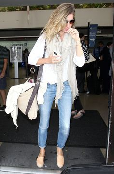 Gisele Bündchen: The Light Wash - For a jet-setting supermodel with a Super Bowl–winning husband, what else is Gisele supposed to wear but the ultimate classic, blue jeans?