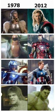 拾い物ですが1979年と2012年の比較画像。アイアンマンが酷いwwwww... on Twitpic