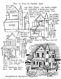 How to Draw A Haunted House   These old houses come in all shapes and sizes so you do not have to copy my design exactly, you can just u...