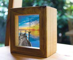 Sunset Handmade Timber Light Box. See by WindowsofLightDesign