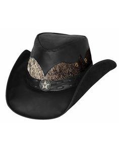783dce20526 Bullhide ® Comanche Leather Hat Leather Cowboy Hats