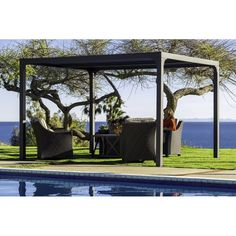 Shop a great selection of Novara Metal Pergola. Find new offer and Similar products for Novara Metal Pergola. Louvered Pergola, Vinyl Pergola, Pergola Canopy, Pergola Swing, Metal Pergola, Backyard Pergola, Pergola Shade, Pergola Plans, Pergola Ideas