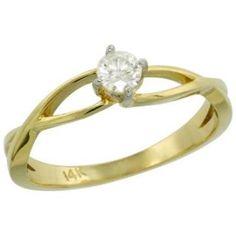 https://ariani-shop.com/14k-gold-loop-diamond-engagement-ring-w-019-carat-brilliant-cut-h-i-color;-si1-clarity-diamond-3-16-in-45mm-wide-size-6 14k Gold Loop Diamond Engagement Ring w/ 0.19 Carat Brilliant Cut ( H-I Color; SI1 Clarity ) Diamond, 3/16 in. (4.5mm) wide, size 6