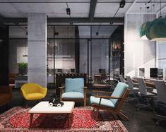 "Popatrz na ten projekt w @Behance: ""Office interior design"" https://www.behance.net/gallery/34924387/Office-interior-design"