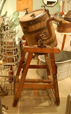 Butter Churn.....Finally!!!! I know what it is.  Another salvage I found in a friends barn when they moved and didn't know what it was now I have ideas for it!