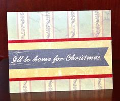 Home for Christmas card by Darla Weber #CosmoCricket