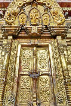Kala Ksetram, Door of Changu Narayan temple, Nepal