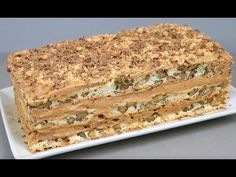 Chef Recipes, Sweets Recipes, Dairy Free Recipes, Cooking Recipes, Napoleon Cake, Russian Cakes, Raw Cake, Russian Recipes, Sweet Cakes