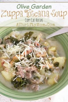 Recipe for Olive Garden Zuppa Toscana Soup #CopyCatRecipe - This is our go to soup recipe for potlucks, family get together's and cold or rainy days.