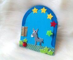 Elfentür Feentür Wichteltür Mäusetür Esel How To Varnish Wood, Fairy Doors, Blue Angels, Beautiful Dream, My Room, Painting, Worth It, Donkeys, Cushion