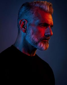 I am so grateful to have the opportunity to work with the best photographers. this one by he's more than a photographer- he's a real artist! 3 4 Face, Male Face, Colour Gel Photography, Portrait Photography, Anthony Varrecchia, Hair And Beard Styles, Hair Styles, Portrait Lighting, Beard Grooming