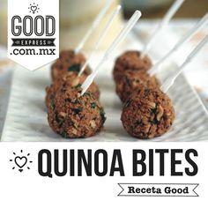 QUINOA BITES- - INGREDIENTES 1/2 cebolla picada 1 jalapeño fresco, sin semillas y picado  1 tza de quinoa cosida, (recuerda hervir la Quinoa con caldo de vegetales) 1/4 c. granos de maíz orgánicos  1/4 c. frijoles negros  2 cdas. Harina de coco  1 cda. linaza molida + 2 cdas. agua  2 cdta. la leche no láctea  Para el empanizar:  1 c. cereales sin gluten o migas de pan aplastado  1/2 cdta. orégano seco  1/4 cdta. pimentón ahumado  1/4 cdta. sal  1 pizca de pimienta de ...