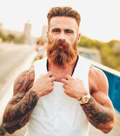 Daily Dose of beard styles and men's grooming tips. Beard Growth Tips, Most Beautiful Pictures, Cool Pictures, Beard Barber, Beard No Mustache, Moustache, Bald Men, Awesome Beards, Hair And Beard Styles