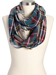 Women's Plaid Infinity Scarves   Old Navy