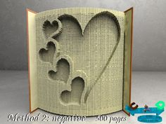 Mom and Dad Hearts Book Folding Pattern Double Pack Bundle
