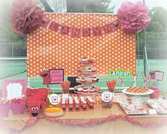 ELMO themed 2nd birthday party | CatchMyParty.com
