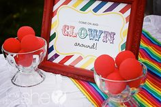 clown dress-up station/photobooth
