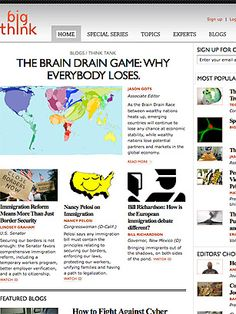 I just discovered Big Think on TIME's list of Best Websites. Explore it and more must-see sites on TIME.com.