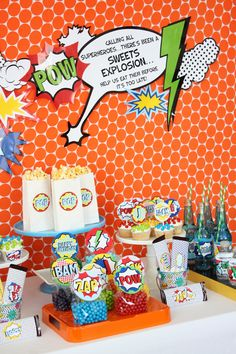 Wants and Wishes: Party planning: Vintage Superhero Birthday Party Collection. Superhero Birthday Party, 4th Birthday Parties, Boy Birthday, Superhero School, Birthday Ideas, Teenager Party, Comic Book Parties, Teacher Appreciation Gifts, Party Time