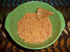 Spiced Sweet Roasted Red Pepper  feta Hummus