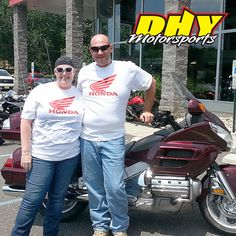Brett and his wife Kristen came all the way from #Michigan to purchase this 2006 #Honda #Goldwing and now they get to drive it home! Thank you both for going the extra 700 miles to make your purchase at DHY and try to keep cool on your trip home. #mynewride #dhynj #tourer #motorcycle #longdistancecustomer