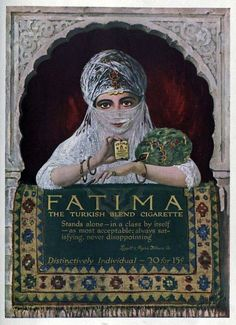 Vintage Advert for Fatima Cigarettes 1914