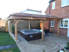 Hot Tub Gazebo, Hot Tub Deck, Hot Tub Backyard, Hot Tub Garden, Patio Gazebo, Garden Gazebo, Spa, Outdoor Living Rooms, Jacuzzi