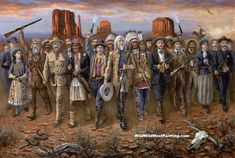 Wild Wild West by Jon McNaughton  Old west, history, American frontier, legends,heroes, wild west, famous outlaws, frontiersmen, gunslingers, blaze of glory
