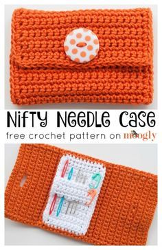 Nifty Needle Case: FREE crochet pattern on Mooglyblog,com! Keep your yarn needles handy and organized (and out of the couch cushions!)