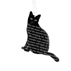 My favorite Yeats poem on a cat necklace!