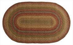 awesome Homespice Decor 505149 Azalea Hudson Jute Braided Rugs - Oval