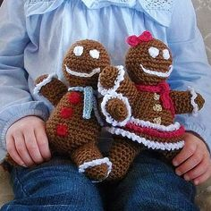 Download Now - CROCHET PATTERN Gingerbread Boy and Girl Amigurumi - Pattern PDF
