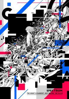 SPECTRUM Art And Illustration, People Illustration, Illustrations And Posters, Buch Design, Design Art, Manga, Design Comics, Collage Artwork, Graphic Design Posters